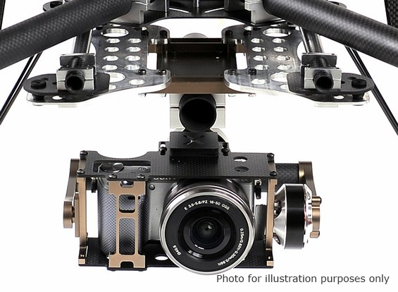 X-Cam X140BL Brushless Gimbal and Controller For Sony NEX5 (long lens)