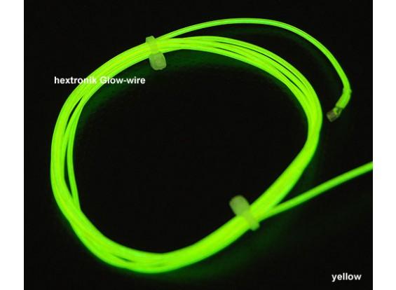 hexTronik Lumifly Glow Wire YELLOW 1.2mtr
