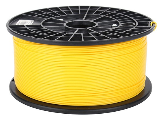 CoLiDo 3D Printer Filament 1.75mm ABS 1KG Spool (Yellow)