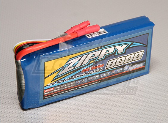 ZIPPY Flightmax 8000mAh 3S1P 30C Lipo Pack