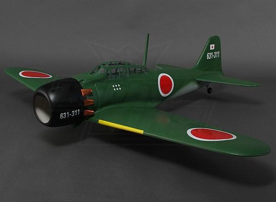 Mitsubishi Zero Composite w/Retracts 0.46 Glow 1360mm (ARF)