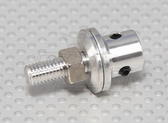 Prop adapter w steel nut 4mm shaft grub screw type for Electric motor shaft types