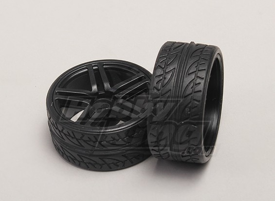 Wheels Tires 2pcs Bag 1 18 4wd Rtr On Road Drift Car