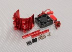 Motor Heat Sink w/Fan Red Aluminum (36mm)