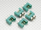 MPX connector with silver color ring, male (5pcs per bag)
