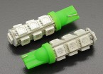 LED Corn Light 12V 2.6W (13 LED) - Green (2pcs)