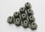 Anodized 8mm Flange Hex Ball Stud - A2038 & A3015 (10pcs)