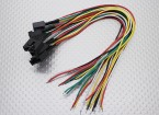 Molex 5 Pin Cable Male Connector with 230mm x 26AWG Wire (5pc)