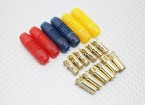 5mm RCPROPLUS Supra X Gold Bullet 3 Pole Connectors (6 pairs)