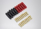 6mm RCPROPLUS Supra X Gold Bullet Polarised Battery Connectors (5 pairs)