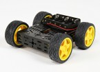 DG012-BV (Basic Version) 4WD Multi Chassis Kit With Four Rubber Wheels
