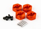 Basher RZ-4 1/10 Rally Racer - Optional Alu. Wheel Hex (4pcs)