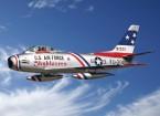 "Italeri 1/48 Scale F-86F Sabre Jet ""Skyblazers"" Plastic Model Kit"