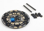 Universal 12-way 120A Multirotor Power Distribution Hub W/LEDs & Dual BECs