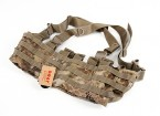 SWAT Cordura Molle Front Chest Rig (Kryptek Highlander)