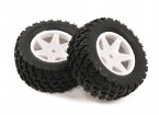 H-King Sand Storm 1/12 2WD Desert Buggy - Complete Rear Tire Set (2pcs)