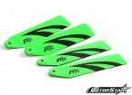 110mm RotorStar Assault Reaper 500 Premium 3K Carbon Fiber Blades - Green (2 pairs)