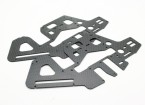 Assault 450DFC TT & Belt Flybarless 3D Helicopter Carbon Side Frames (2pcs)