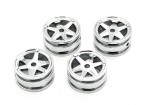 6 Spokes Rim (4pcs) - OH35P01 1/35 Rock Crawler Kit