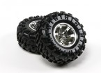 HobbyKing ® ™ 1/10 Crawler 130mm Wheel & Tire (Silver Rim) (2pcs)