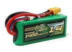 MultiStar Racer Series 1400mAh 3S 65C Lipo Pack For FPV Minis (Gold Spec)