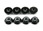 Aluminum Flange Low Profile Nyloc Nut M5 Black (CCW) 8pcs