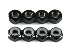 Aluminum Low Profile Nyloc Nut M5 Black (CCW) 8pcs