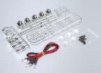 1/10 Crawler LED Light Bar Set (Chrome Effect)