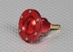 CNC Alloy Fuel Filler Port for Large scale gas/turbine models (Fuel Dot - Red)