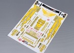 Self Adhesive Decal Sheet - Toyota Drift 1/10 Scale