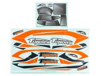 Durafly® ™ Tundra - Decal Set (Orange/Grey)