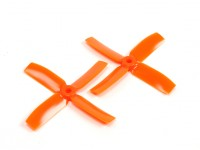 Gemfan 4040 Bullnose Polycarbonate 4 Blade Propeller Orange (CW/CCW) (1 Pair)