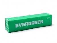 HO Scale 40ft Shipping Container EVERGREEN