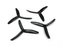 Diatone Polycarbonate 3-Blade Propellers 5040 (CW/CCW) (Black) (2 Pairs)
