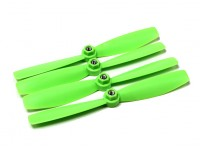 Diatone Self Tightening Polycarbonate Bull Nose Propellers 6045 (CW/CCW) (Green) (2 Pairs)
