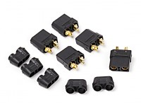 Nylon XT90 Connectors Female (5 pcs/bag) Black