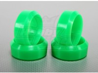 1:10 Scale Hard Plastic Drift Tire Set Neon Green RC Car 26mm (4pcs/set)