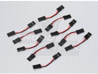 3cm Male to Male Servo Lead 26AWG (10pcs/set)