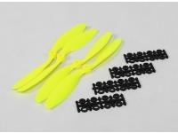 8045 SF Props 2pc CW 2 pc CCW Rotation (Flouro Yellow)
