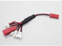 Multi-Plug Charge Lead for Micro Model Batteries (Walkera/NE/Pico/E-flite/JST)