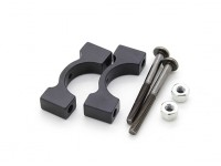 Black Anodized CNC Aluminum Tube Clamp 14mm Diameter