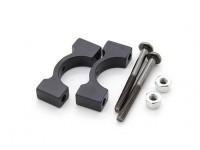 Black Anodized CNC Aluminum Tube Clamp 14mm Diameter