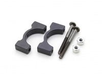 Black Anodized CNC Aluminum Tube Clamp 16mm Diameter