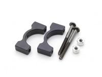Black Anodized CNC Aluminum Tube Clamp 16mm Diameter