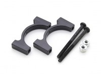 Black Anodized CNC Aluminum Tube Clamp 22mm Diameter