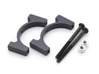 Black Anodized CNC Aluminum Tube Clamp 25mm Diameter