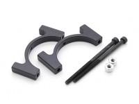 Black Anodized CNC Aluminum Tube Clamp 28mm Diameter