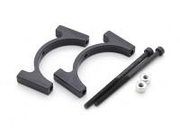Black Anodized CNC Aluminum Tube Clamp 30mm Diameter