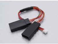 JST(Molex)1.0mm Female to 2 x JR Male (1pc)