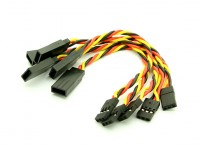 10cm JR 22AWG Twisted extension lead M to F 5pcs